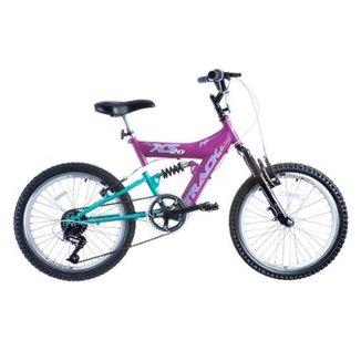 f61b31b239423 Bicicleta Track Bikes XS 20 Aro 20 Suspensão Dupla