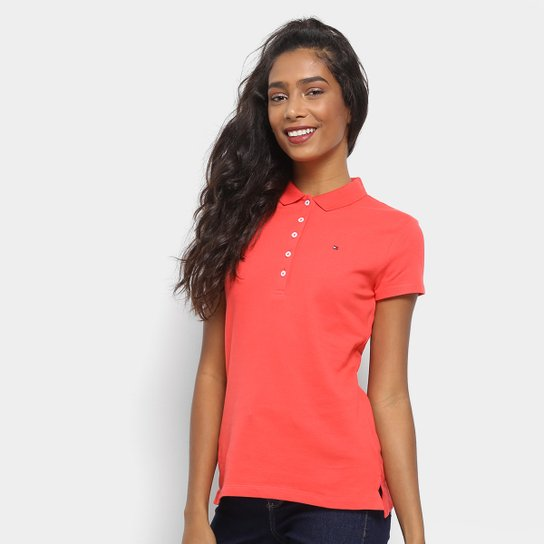 3df2444844 Camisa Polo Tommy Hilfiger Básica Feminina - Compre Agora