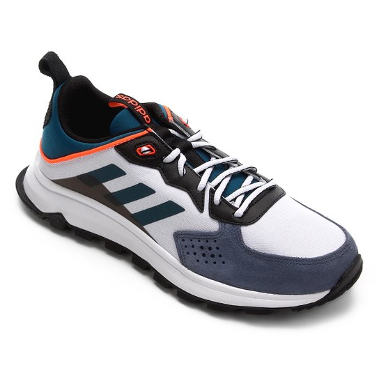cd439461d8 Tênis Adidas Response Trail Masculino - Branco e Azul Turquesa ...