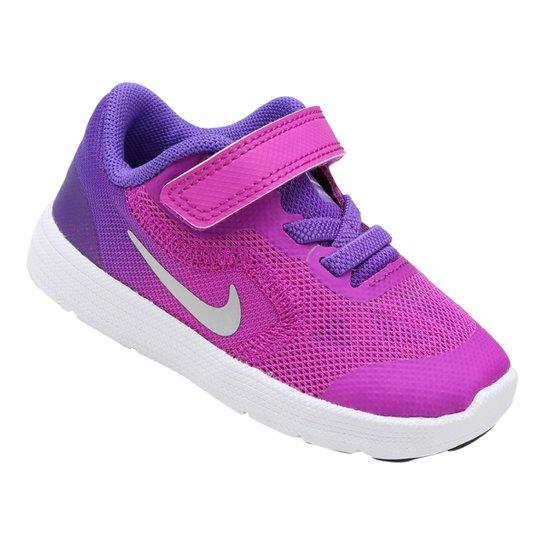 18364140888 Tênis Infantil Nike Revolution 3 - Roxo e Rosa - Compre Agora