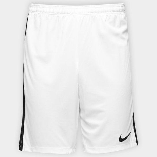 75e0074309152 Calção Nike Dry Academy Masculino - Branco e Preto - Compre Agora ...