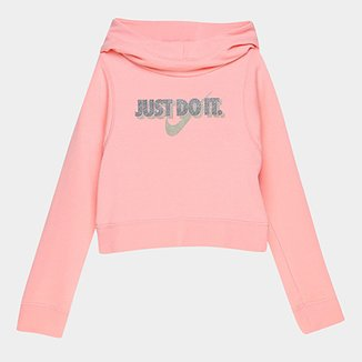 26e6656de3 Moletom Infantil Nike G Nsw Modern Hoodie Croped Feminino