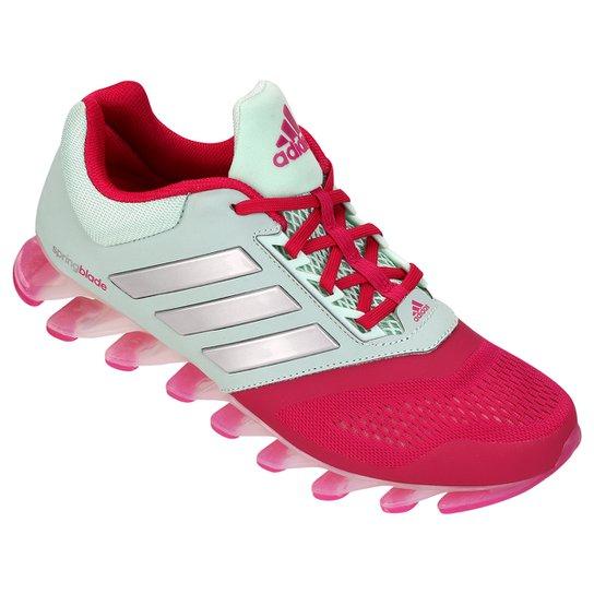 Tênis Adidas Springblade Drive 2 - Verde Claro+Rosa 52499fb1b0224