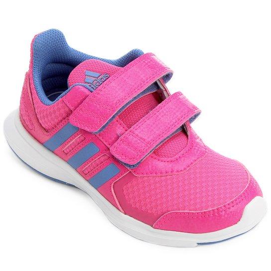 c91c0fb5f97 Tênis Adidas Hyperfast 2 Cf K Infantil - Rosa e Azul - Compre Agora ...