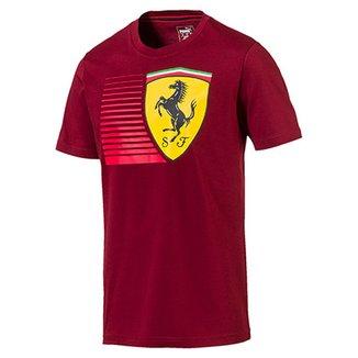 Camiseta Puma Scuderia Ferrari Big Shield Tee Masculina bff3f734cbbf3