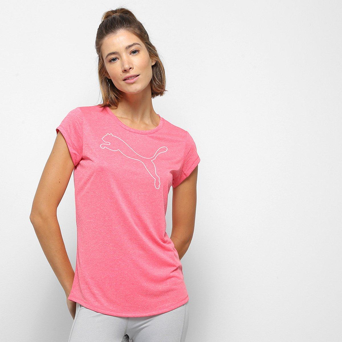 Camiseta Puma Active Heather Feminina - Tam: G