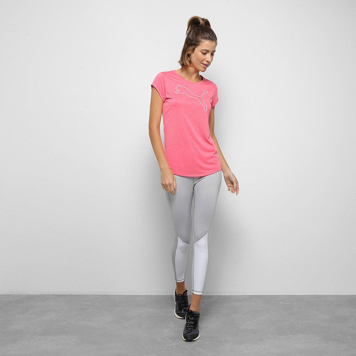 Camiseta Puma Active Heather Feminina - Tam: G - 2