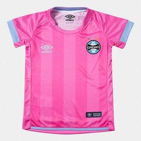 4c23e14b82bf3 Camisa Grêmio Infantil Outubro Rosa 17 18 s n° Umbro - Compre Agora ...