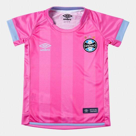Camisa Grêmio Juvenil Outubro Rosa 17 18 s n° Umbro - Rosa e Azul ... bf79d54d21faf