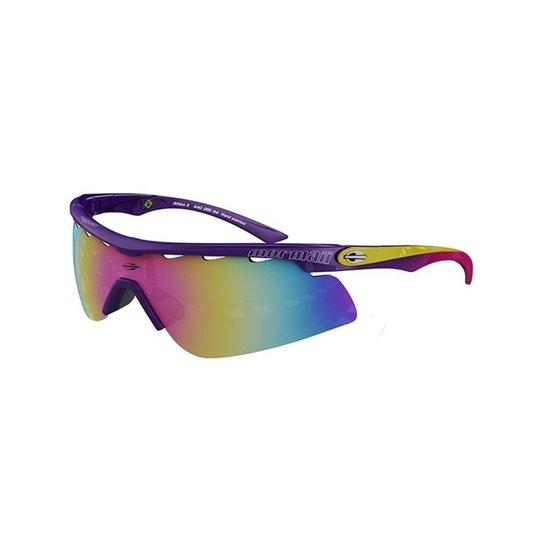3d36f40b84b33 Óculos Sol Mormaii Athlon - 0044028594 - Roxo E Rosa Brilho - Roxo+Amarelo