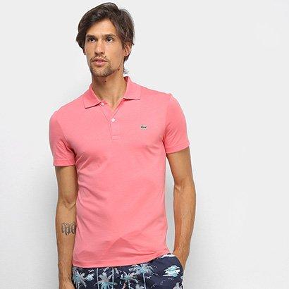 Camisa Polo Lacoste Malha Original Fit Masculina