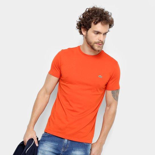 Camiseta Lacoste Básica Jersey Masculina - Coral - Compre Agora ... 3a11e82044