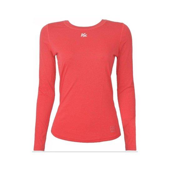 Camisa Térmica Kanxa Infantil Feminina Fator Proteção Solar Uv50 6277 -  Coral 2e96b52715404