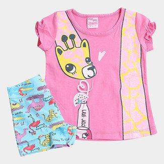 beb0de316 Conjunto Infantil For Girl Girafa Feminino