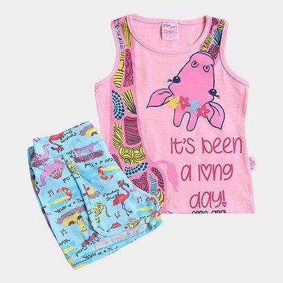Conjunto Infantil For Girl Estampa Girafa Feminino