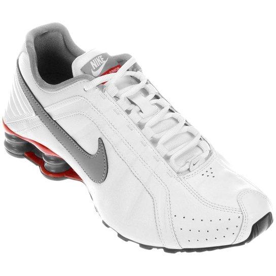 a2d20e5a84e Tênis Nike Shox Junior - Branco+Vermelho