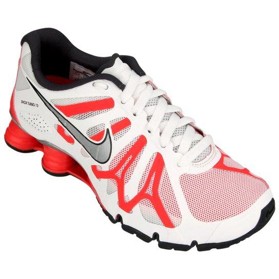 pretty nice 1c754 3f710 Tênis Nike Shox Turbo+ 13 Feminino - Branco+Vermelho
