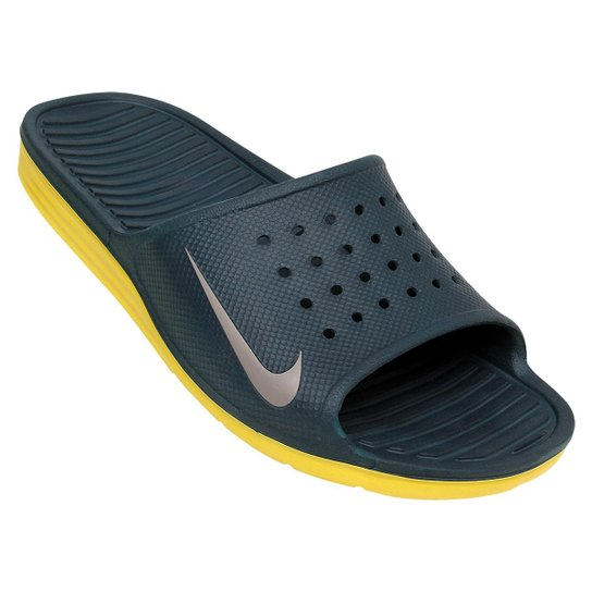 7e292ec905b5e9 Chinelo Nike Solarsoft Slide - Verde escuro