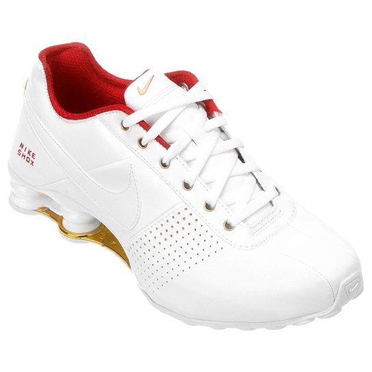 brand new d770b 98a3f Tênis Nike Shox Deliver - Branco+Vermelho