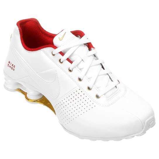 66a3e4853bf Tênis Nike Shox Deliver - Branco+Vermelho