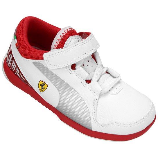 Tênis Infantil Puma Valorosso Scuderia Ferrari 5 - Branco e Vermelho ... e117da0e283d0