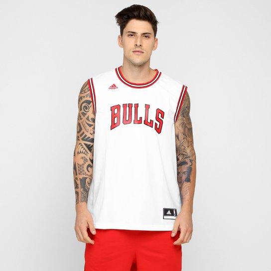 Camiseta Regata NBA Adidas Chicago Bulls Home - Branco+Vermelho dbcc95a8ae6