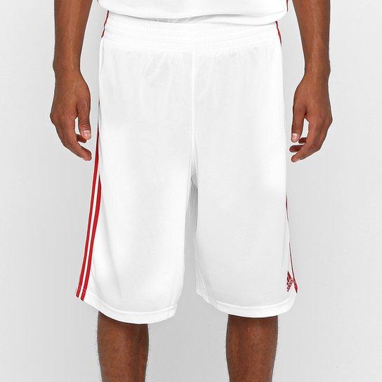 de7c1a38de Bermuda Adidas Commander - Branco e Vermelho - Compre Agora
