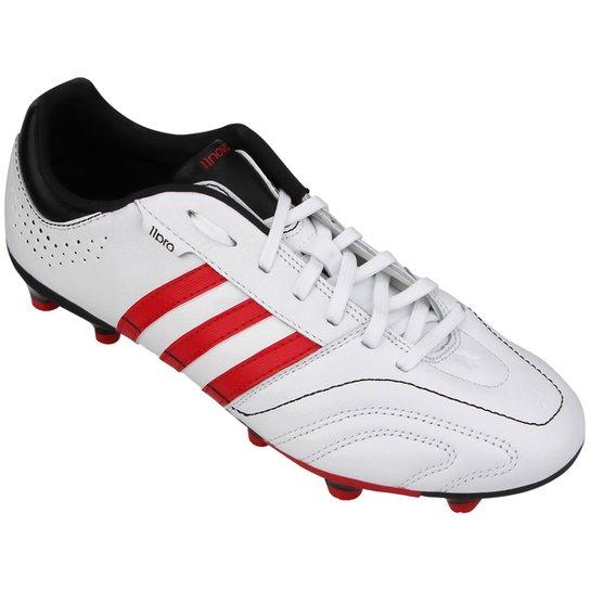 446a7f6e26 Chuteira Adidas 11 Nova TRX FG - Branco+Vermelho