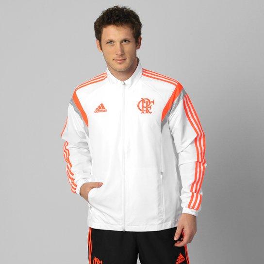 80e20d2475b Agasalho Adidas Flamengo Viagem - Branco e Preto