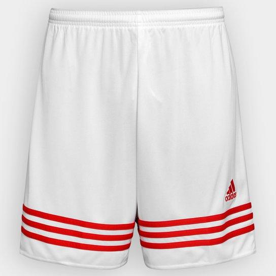 Calção Adidas Entrada 14 Masculino - Branco e Vermelho - Compre ... efe1d87c4b5c7
