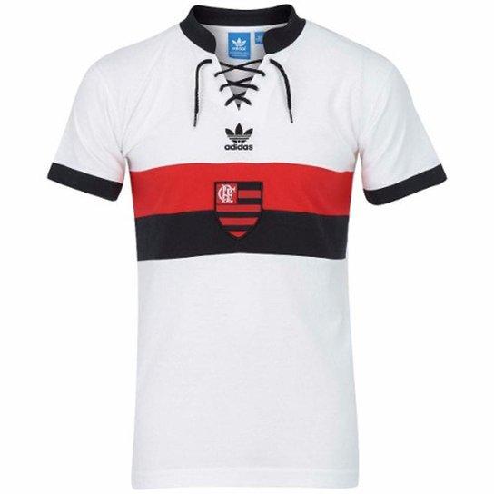 967e96d6dd Camisa Adidas Flamengo Retrô - Branco+Vermelho