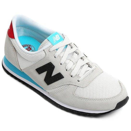 Tênis New Balance U420 - Branco e Vermelho - Compre Agora   Netshoes b76bcc0ca4