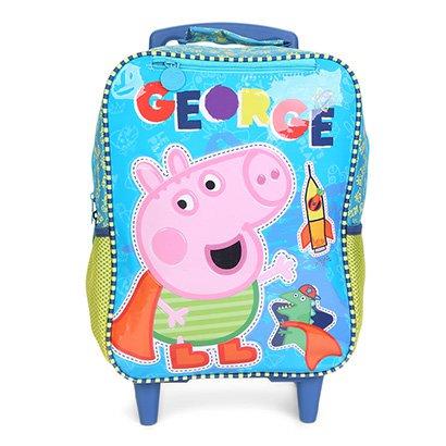 Mochila Escolar Infantil Xeryus Rodinhas Estampa Peppa Pig