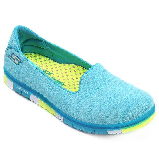 fa24a02e3ed Sapatilha Skechers Go Mini Flex Feminina - Azul Turquesa - Compre ...