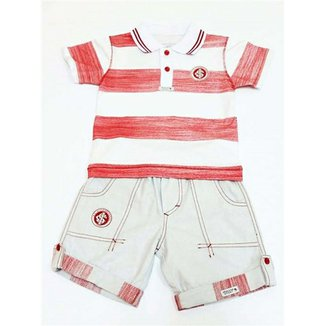 Conjunto Polo Shorts Meia Malha Oxford Menino Internacional Reve Dor - G 394fe5be2cc