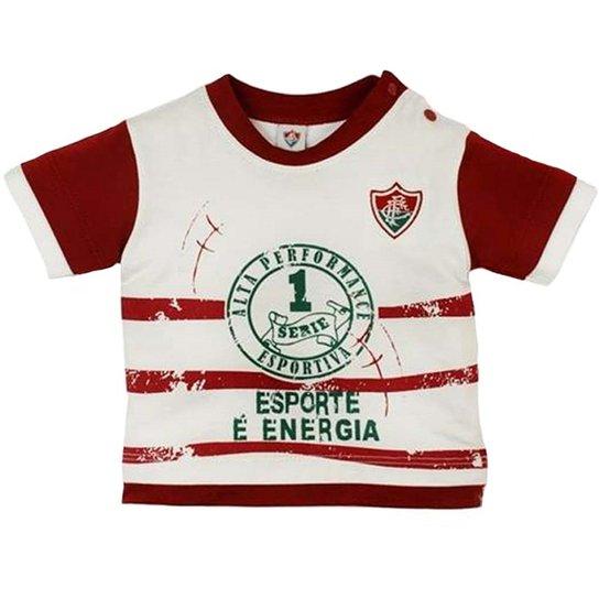 Camiseta Esporte É Energia Meia Malha Menino Fluminense Reve Dor - G -  Branco+Vermelho 552ffd4c94148