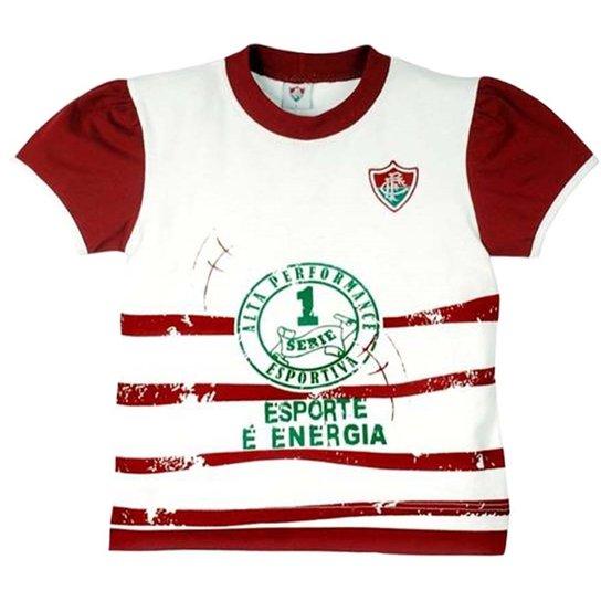 80e347dc9690b Baby Look Esporte É Energia Meia Malha Menina Fluminense Reve Dor - 1 Ano -  Branco