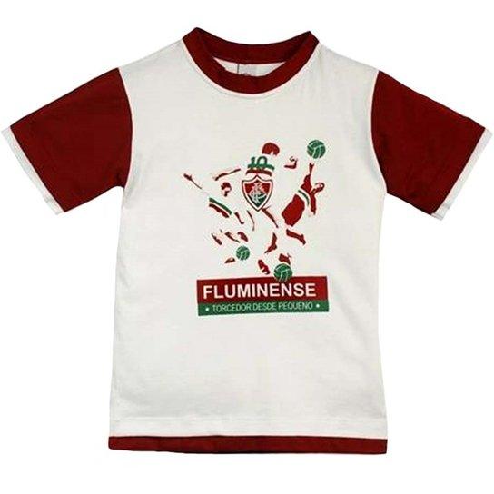 Camiseta Jogadores Meia Malha Menino Fluminense Reve Dor - 8 Anos - Branco+ Vermelho 70be9789fc371
