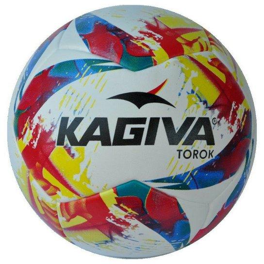 Bola Futebol Society Kagiva Torok - Branco+Vermelho 660adeae81147