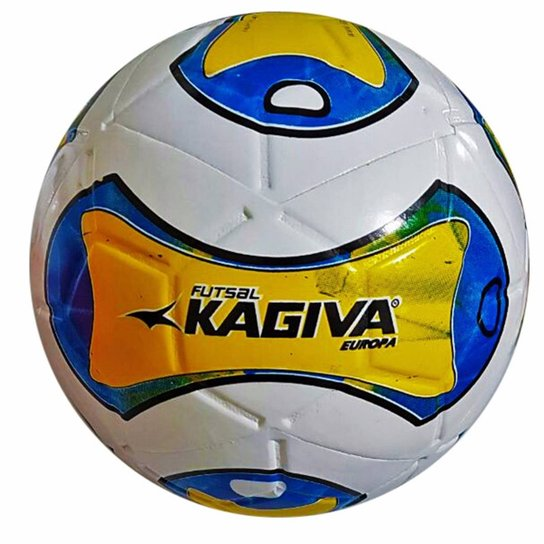 Bola Futsal Kagiva F5 Europa - Branco+Vermelho d3f315ade7b3d