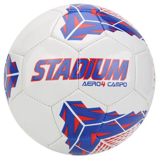 Bola Futebol Stadium Aero 4 Campo - Branco+Vermelho 1a85c96cda525