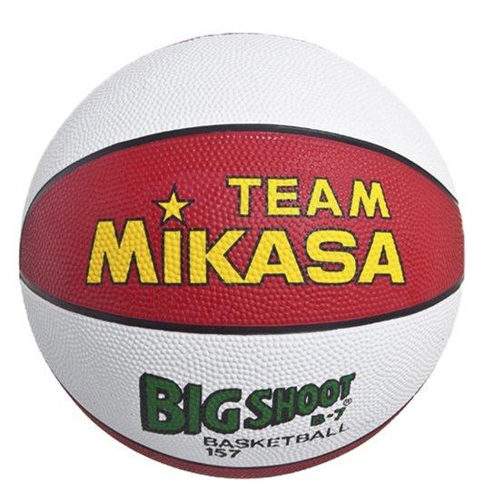 f4b05043619c6 Bola Basquete 157-Rw Mikasa - Branco+Vermelho