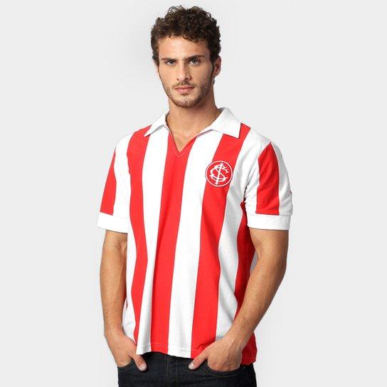 2753f14b62980 Camisa Polo Internacional Listrada 1912 - Branco+Vermelho