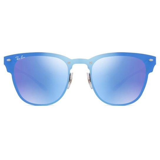 1f337f48bb5c3 Óculos de Sol Ray Ban Blaze Clubmaster RB3576N 153 7V-41 - Azul Turquesa