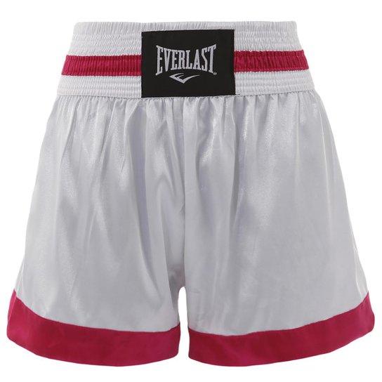 00190b329d Shorts De Muay Thai - Branco e Vermelho - Compre Agora