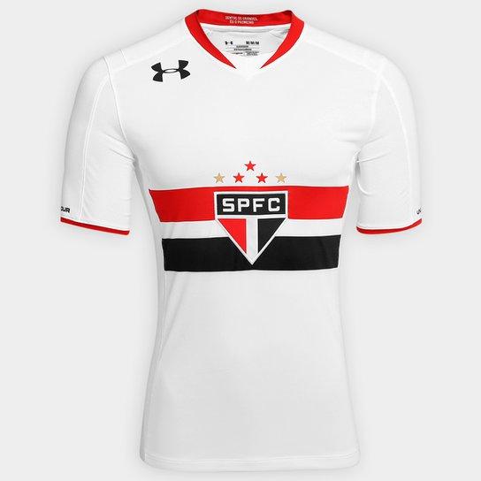 Camisa São Paulo I 15 16 s nº Jogador Under Armour Masculina - Branco 39fe5e0ae0f39