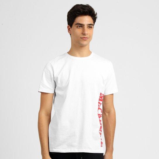 18a1a5ad6c7 Camiseta Mackenzie Masculina - Branco+Vermelho ...