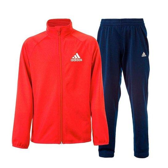 86d43a7e4b Agasalho Infantil Adidas Yb Entry Oh Masculino - Branco+Vermelho