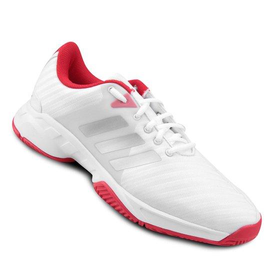 Tênis Adidas Barricade Court 3 Masculino - Branco+Vermelho 8c3f8a979ae9a