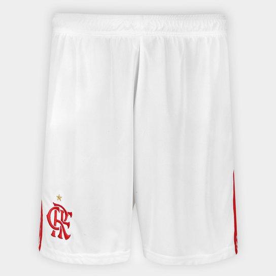 a86a2a6da2 Calção Flamengo 2018 Adidas Masculino - Branco e Vermelho - Compre ...